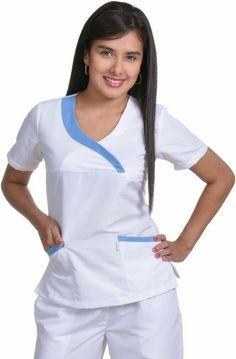 25 70 casaca se ora contraste azul 8293 794 for Spa employee uniform