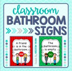 If you have a bathroom in your classroom, this product is for you! This bundle includes 12 options of bathroom signs to print and hang!