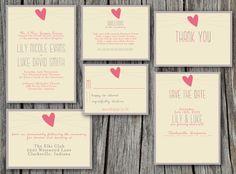 Wedding Invitation Set - Printable, Custom, DIY - SIMPLE, CHIC (Wedding Design #5) on Etsy, $80.00