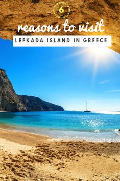 So, what is it that makes Lefkada so special? Is it the exotic Lefkada beaches, its natural ambiance or the easy (hint: by car) access to the island? Exotic Beaches, Sandy Beaches, Agios Ioannis Beach, Places In Greece, Beautiful Streets, Greece Islands, Natural Scenery, Windsurfing, Most Beautiful Beaches