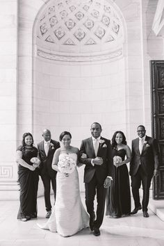 the bridal party lilian haidar photography http://munaluchibridal.com/romantic-nigerian-wedding-harvard-club-nyc