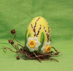 Needle felted Easter egg, wool Easter egg, Easter ornament, Easter home decor, handmade Easter gift Needle Felted Animals, Needle Felting, Felt Crafts, Easter Crafts, Hedgehog Craft, Easter Gifts For Kids, Felt Baby, Nature Table, Easter Eggs
