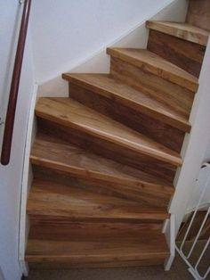Traprenovatie met massief hout zoals teak, eiken, noten en kersen hout. > wortman meubelen Tolkien, Stairs, Van, Design, Home Decor, Milk, Houses, Staircases, Stairway