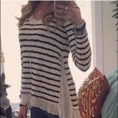 Postmark stripe top Anthroplogie Postmark top from Anthropologie. Navy & White stripe. As seen on Christina El moussa on Flip or Flop . Size small. Worn once. In like new condition Postmark Tops Blouses
