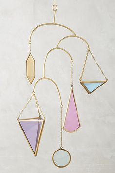 Anthropologie Vibrant Geo Hanging Planter