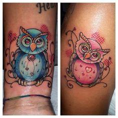 Gufetti by Giorgio! #gufo #gufetto #civetta #owl #tattoo #tatuaggi #salento #lecce #veglie #tendenze #tendenzetattoo #oriental #colortattoo #ink #andreatendenzetattoo