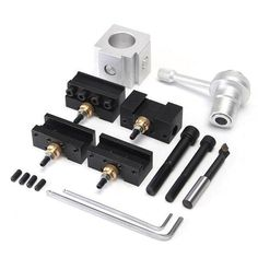 Drillpro Quick Change Boring Bar Turning Tool Post Holder for CNC Mini Lathe