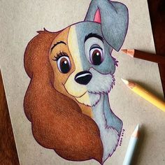 Art Drawings - Lady and the Tramp Fan Art .-Kunst Zeichnungen – Lady and the Tramp Fan Art – … Art Drawings – Lady and the Tramp Fan Art – - Cute Disney Drawings, Cool Art Drawings, Pencil Art Drawings, Art Drawings Sketches, Cartoon Drawings, Easy Drawings, Drawing Disney, Cartoon Illustrations, Disney Sketches