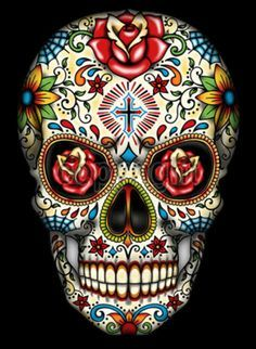Sugar Skull With Cross Tattoo T-Shirt PLUS SIZE -or- SUPERSIZE T762F Rhinestone #Sanctuarieandothersdependsonsizeseedesc #TShirt #Casual