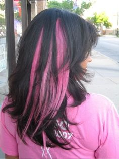 Show your support with pink hair extensions :) Race Day Hair, Barbie Bachelorette, Pink Hair Extensions, Hot Pink Hair, New Hair Do, Go Pink, Hair Jewels, Cut And Color, Hair Dos