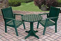 Casual Collection Tables by Barco Products. $556.00. Casual Collection Provides Comfortable Seating in Any Setting 100pct recycled plastic construction Built for a lifetime of outdoor or indoor use Roomy and comfortable, sturdy and stable Simple assembly with included stainless steel hardware Can be stored outside year round