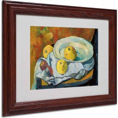 Trademark Fine Art Plate of Apples 1891 inch Canvas Art by Paul Serusier, Wood Frame, Size: 11 x 14, Multicolor