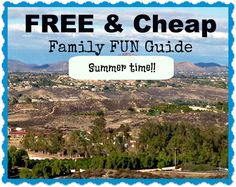 Things to do with Kids in the Summer !! Great list! #free #activities #summer