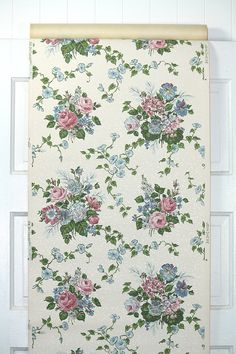 Our vintage wallpaper is sold by the yard.  This authentic vintage wallpaper was printed in the 1950's. It is actual vintage stock, not a reproduction.  You will receive one yard length of this wallpaper (1 yard = 36 inches or 91.44 cm).  The wallpaper pattern is 18 inches wide; the length is one yard.  To see if multiple yards of this pattern are available, please check the quantity drop down box.  If you purchase multiple yards of a pattern, you will receive the wallpaper in one conti...