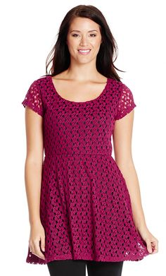 $39.95 crochet skater tunic @ Crossroads *** Wont pay this price - it will be on sale in the blink of an eye! ;-P
