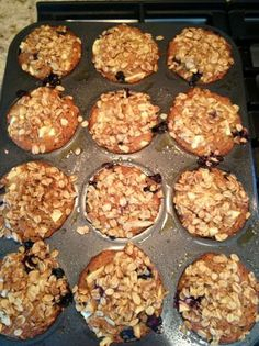 Applesauce Oatmeal Muffins. used baby food purees for apple sauce, vanilla yogurt for the oil, & half oatmeal half oatmeal baby cereal. perfect toddler muffins.