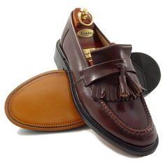 loake brighton oxblood tassel loafer