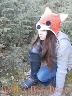 Adorable Fox Crocheted Hat  Made To Order by SparkleandDoom, $30.00