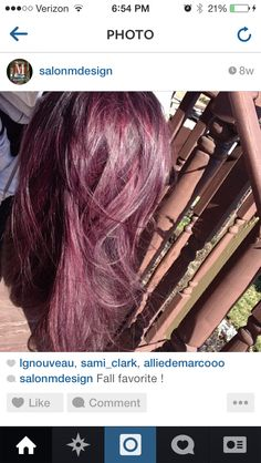 Love the hair color.  Something different