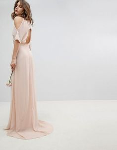 Airy blush long bridesmaid dress for outside weddings. #ad #bridesmaiddresses Cocktail Bridesmaid Dresses, Prom Dresses, Wedding Dresses, Bridesmaid Ideas, Bridesmaid Gowns, Dress Prom, Tulle Dress, Wedding Bridesmaids, Formal Dress
