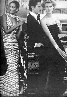 Vogue Editorial June 1974 - Beska Sorensen, Beverly Johnson & Tony Spinelli by Patrick Demarchelier