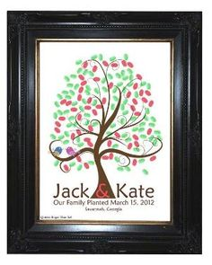 WEDDING TREE GUESTbook Thumbprint guest book by SugarVineArt, $46.25 by solange.barradesaldivia