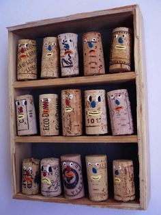 want to decorate wine corks with all the girls in my house as one so cute