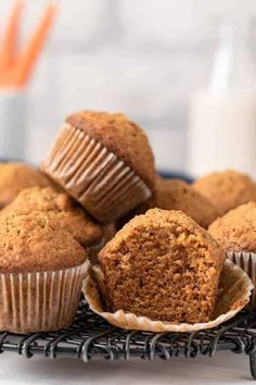 Learn how to make the BEST Carrot Muffins that are so moist and flavorful! This easy recipe is made without nuts and is great for breakfast or mid-day snack!