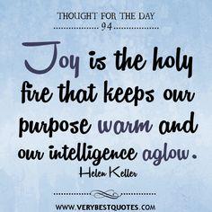 Joy to keep us aglow!