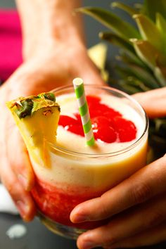 Strawberry 'n Pineapple Lava Flow-this brings me back to our honeymoon in Maui