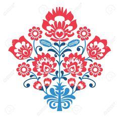 31997456-Polish-Folk-art-pattern-with-flowers-wzory-lowickie-wycinanka-Stock-Photo.jpg (1300×1298)
