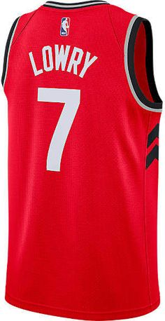 2e6cd4d6ae7 Men's Nike Toronto Raptors NBA Kyle Lowry Icon Edition Connected Jersey