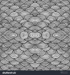 Seamless abstract hand-drawn waves pattern, wavy background. Seamless pattern can be used for wallpaper, pattern fills, web page background,surface textures.