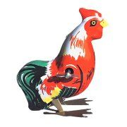Alexander Taron Collectible Decorative Tin Toy Hopping Rooster Image 1 of 1