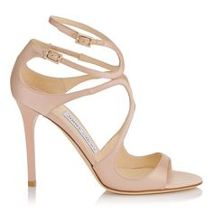 JIMMY CHOO LANG Dusty Rose Satin Sandals. #jimmychoo #shoes #s