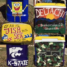 Custom Painted Cooler: Personalized Cooler 5 by theartoftraveling