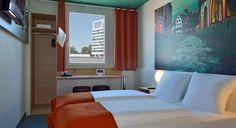 Zweibettzimmer im B&B Hotel Freiburg-Nord