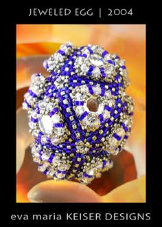 Free  Beaded Egg Cover Tutorial featured in Bead-Patterns.com Newsletter!