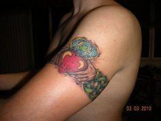 The Irish Claddagh Arm Band....- #talesofthetatt #tattoo  #Irish #StPatricksDay- www.talesofthetatt.com Claddagh Tattoo, Thigh Sleeve, Irish Tattoos, Chest Piece, Love Tattoos, Arm Band Tattoo, Tattoo Designs, Tattoo Ideas, Watercolor Tattoo