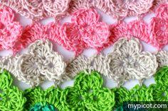 MyPicot | Free crochet patterns: Crochet Shamrock stitch