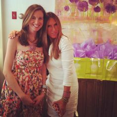 """ME AND JILL SAUNDERS OF PIMLICO NEW CANAAN AT THEIR """"GARDEN PARTY"""" EVENT- LAUNCHING MY NEWEST SERIES- """"GARDEN PARTY"""""""