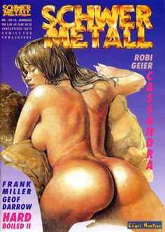 "Illustration by Paolo Serpieri. - Schwer Metall Magazine Covers. - Board ""Art-Schwer Metall"". -"