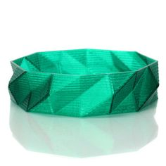 Signature Bangle Emerald, $26,  by L'ABATTOIR de PLASTIQUE, Bold 3D Printed Bangles !!