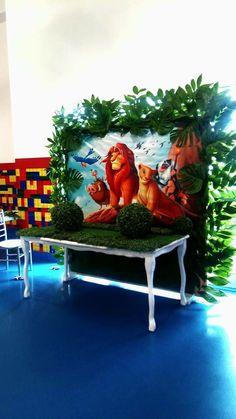 Lion king Backdrop Jungle Theme Birthday, Lion King Birthday, 1st Boy Birthday, 1st Birthday Parties, Birthday Ideas, Lion King Theme, Lion King Party, Lion King Cakes, Lion King Baby Shower