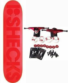 "PLAN B SKATEBOARDS Complete RYAN SHECKLER SUBLIMINAL 8 Pro Skateboard by Plan B. $67.99. Plan B Complete Skateboard Features Sheckler Subliminal Deck, Size 8"". Complete components include Core Trucks, 52mm TGM Goth Logo Wheels, Amphetamine Abec 5 Bearings, Black Diamond Griptape, 1"" Hardware and 1/8"" risers."