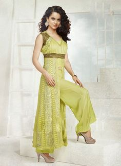Buy Gorgeous Green Suit With Lace Work, Clothes, shoes in Chandigarh