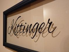 Personalized frames- Great gift idea to make with a cricut.