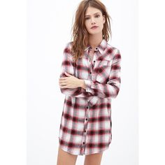 Plaid Flannel Shirt Dress Plaid flannel shirt dress from Forever21. All original tags attached along with extra button! Never worn. Forever 21 Dresses Long Sleeve