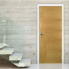 Cadiz  Real American White Oak Crown Cut Veneer Door, Prefinished, 1/2 Hour Fire Rated. #internaldoor #oakdoor #cadizdoor