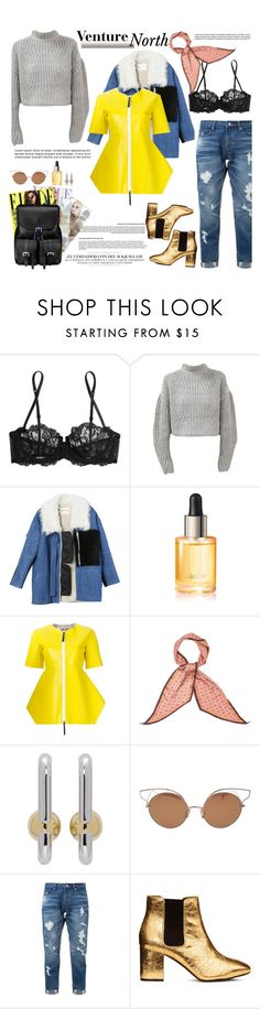 """""""How to Style a Grey Knit Sweater with Distressed Denim Jeans and a Shearling Jacket for Travel to Sundance"""" by outfitsfortravel ❤ liked on Polyvore featuring La Perla, Sandy Liang, Cartier, Marni, Monsoon, Marc Jacobs, Dita, Guild Prime, Whiteley and Aspinal of London"""
